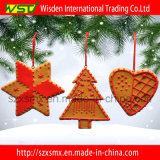 Ornamento de suspensão da árvore do Xmas da argila do polímero do pão-de-espécie do açúcar