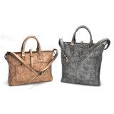 Freizeit-Handtasche der Weinlese-Art-Qualitätsleder-Frauen