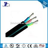 Alambre eléctrico aislado PVC del conductor de cobre descubierto del cable