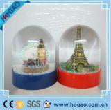 Globo da neve do OEM Polyresin Eiffel para a decoração