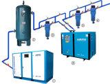 5kw Luftkühlung-riemengetriebener Schrauben-Luftverdichter