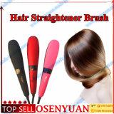 OEM com o Straightener do cabelo da escova de ar quente do indicador do LCD