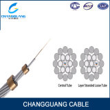 24 Faser-Aluminiumlegierung-Rod-Faser-Kabel Opgw des Kern-G652D
