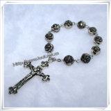 Braccialetto religioso del nuovo di disegno dei branelli di vetro rosario di decade (IO-CE067)