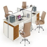Mesa modular da estação de trabalho do computador de 4 pessoas para o sistema de escritório (HY-P09)