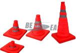 Cone de dobramento plástico da segurança de tráfego do ABS vermelho (RTC-45)
