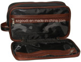 Travel Business Cosmetics Packing Pouch di Polyester Men nero con Handle