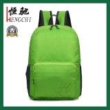 Le polyester réutilisable bon marché folâtre le sac à dos pliable de loisirs imperméables à l'eau