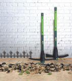 2kgs (4.4Lbs) Herramientas de jardín de la agricultura Matrack de piqueta de acero con la manija de la fibra de vidrio