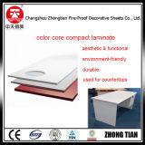 カウンタートップのための固体コアカラーフェノール樹脂の積層物