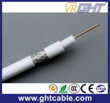 1.0mmccs, 4.8mmfpe, 112*0.12mmalmg, Außendurchmesser: 6.8mm schwarzes Belüftung-Koaxialkabel RG6