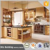 Gabinete de cozinha moderno da madeira contínua da alta qualidade da mobília da cozinha