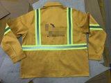 Camisa e calça de segurança com fitas reflexivas amarelas, vestuário de segurança