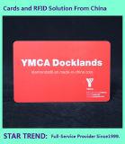 Tarjeta plástica RFID 125kHz del regalo para el acceso del miembro de club con la impresión en color completa