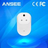 en interruptor sin hilos elegante estándar del enchufe de potencia, con el IOS y el APP androide