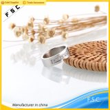 Anillo de dedo de encargo del acero inoxidable del diseño simple de la joyería de la venta caliente