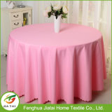 Costume por atacado Tablecloth redondo da cor-de-rosa de um banquete de 90 polegadas
