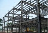 Almacén ligero de acero de la fábrica de la estructura de acero del color que cubre