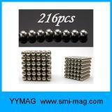 Imán colorido al por mayor del cubo del rompecabezas de la bola del juguete de la esfera de 3m m 5m m