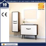 Gabinete sanitário da mobília do banheiro do MDF dos mercadorias com espelho do diodo emissor de luz