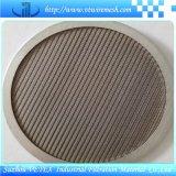Forma redondo de acero inoxidable disco de filtro