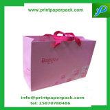Bolso magnífico de la fiesta de cumpleaños del regalo de la bolsa del papel de Kraft con la maneta de la cinta