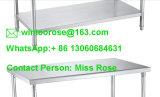 Reihe-Arbeits-Tisch des beste QualitätsmindestEdelstahl-Küche-Geräten-zwei