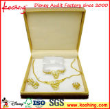 Vakje van de Gift van de Juwelen van het Document van de Douane van de luxe het Met de hand gemaakte Embleem Afgedrukte, het Vakje van de Ring, het Vakje van de Halsband