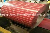 Bobine en acier galvanisée peinte par brique rouge de couleur ou en bois pour le marché du Vietnam