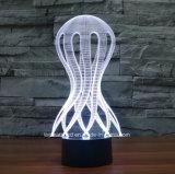 Lampada a pile decorativa dell'indicatore luminoso di notte dell'interruttore 3D di tocco di illusione LED di figure di abitudine per il regalo dei capretti