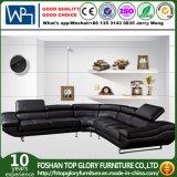 Muebles de lujo de la sala de estar, conjuntos del sofá de la sala de estar, negro de cuero italiano del sofá (TG-962)