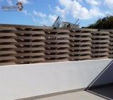 Madera compuesta de la armadura de aluminio barata del jardín de Guangdong que cerca para la venta