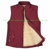 袖なしのベストのジャケット(FHL17003)にパッドを入れる女性または女性冬Qulited