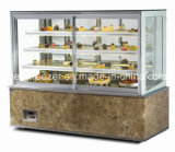 Refrigerador de la visualización de la torta con cinco estantes