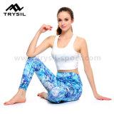Yoga Legging di usura di ginnastica dello Spandex di forma fisica delle signore