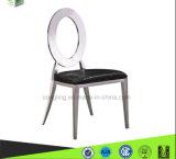 Овальная нержавеющая сталь задней кожи обедая стул для домашней мебели