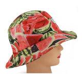 Protezione su ordinazione del cappello della benna di stampa dell'anguria di modo con il contrassegno tessuto