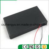 8AA Batteriehalterung mit den roten/schwarzen Leitungen, Deckel und Schalter