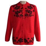 Os iaques e as lãs das mulheres da GN 1640 misturaram a camisola feita malha do casaco de lã