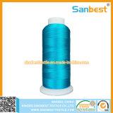 cuerda de rosca colorida del bordado del rayón 150d/2