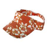 Chapeau blanc de pare-soleil avec l'impression (JRV050)