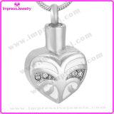 Pendants de coeur d'or de Rose de bijou de cendres avec les cristaux Ijd9660
