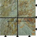 자연적인 슬레이트 돌 이동할 수 있는 마루 도와