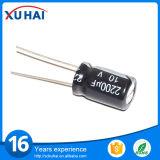 Aluminiumkondensator-elektrolytische Qualität der kleinen und langen Lebensdauer-100UF 25V