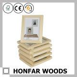 Marco de madera inacabado de la foto de madera sólida de DIY