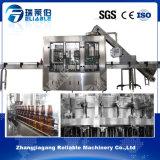 O frasco de vidro carbonatou a usina da bebida feita em China