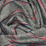 Tela da listra do Spandex do poliéster da alta qualidade 194GSM para a roupa