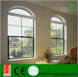 Ventana de apertura vertical de aluminio colgada esmaltada doble de aluminio americano de Windows del estilo sola
