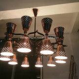 Candelabros europeus modernos do cobre da originalidade da forma do estilo para a iluminação da cafetaria