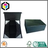 Boîte-cadeau compressible noire mate de papier de carton pour le vêtement